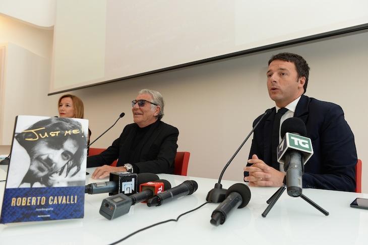Silvia Grilli,Roberto Cavalli and Matteo Renzi
