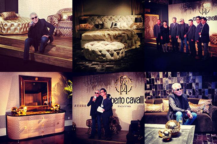 Presentation of Roberto Cavalli Home in the Da Vinci Home Flagship Store