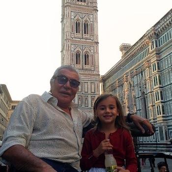 Roberto Cavalli with Maria Eva