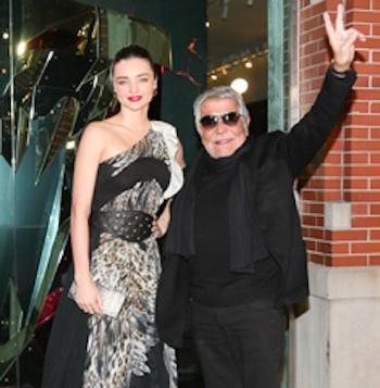 Roberto Cavalli with Miranda Kerr