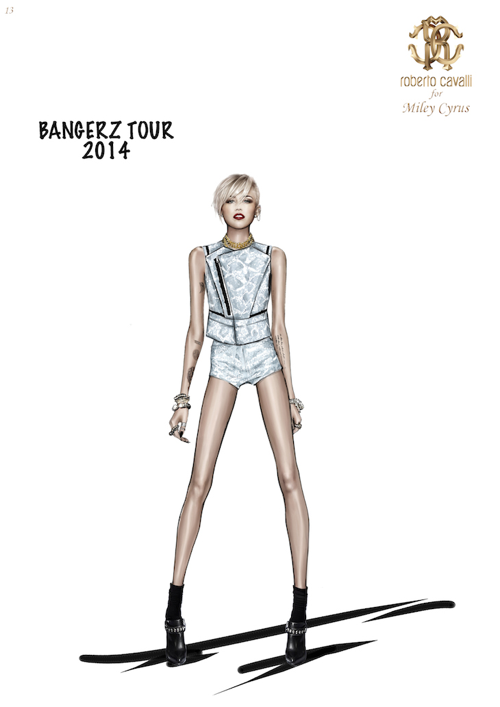 Miley Cyrus in Roberto Cavalli @ The Bangerz World Tour