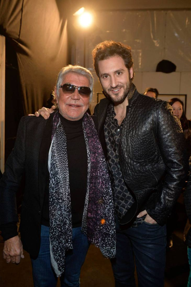 Roberto Cavalli with Alex Gadea