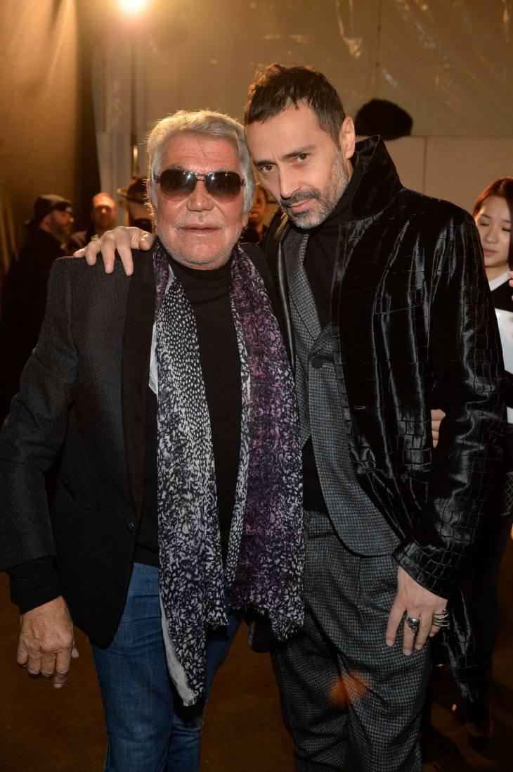 Roberto Cavalli with Fabio Novembre