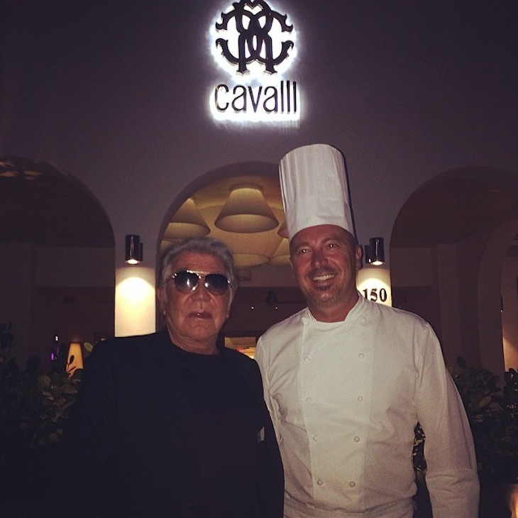 Roberto Cavalli with Chef Mazzi