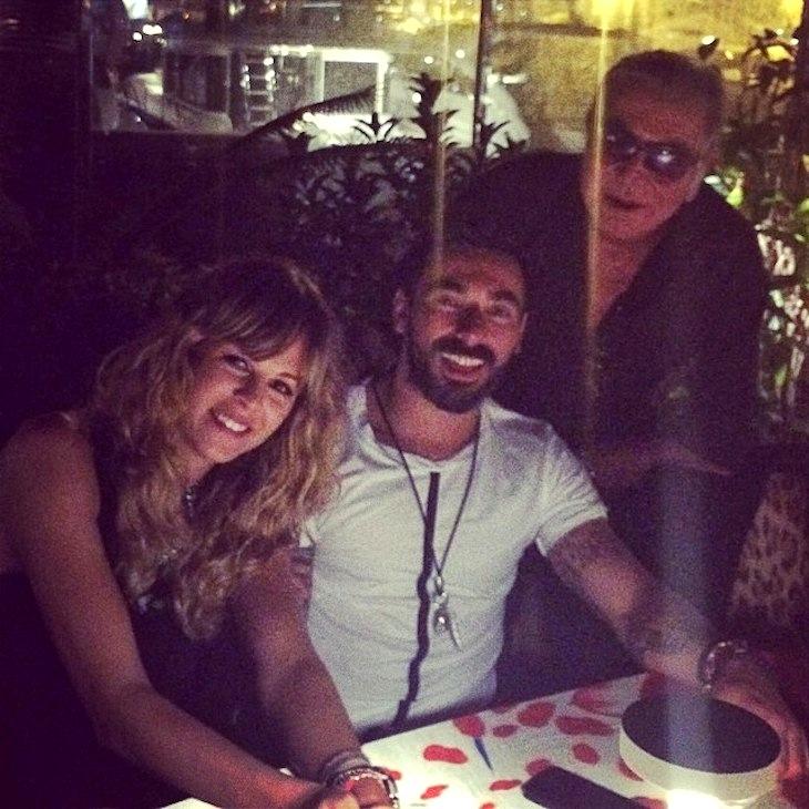 With Ezequiel Lavezzi @pocho22lavezzi and Yanina Screpante