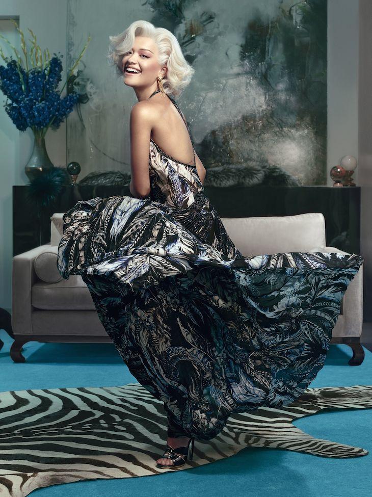 Rita Ora for Roberto Cavalli FW1415
