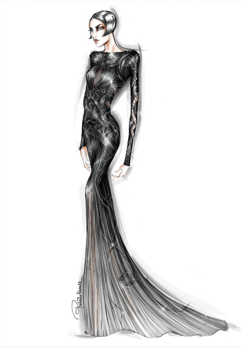 Nieves-Alvarez dress - Roberto Cavalli Atelier