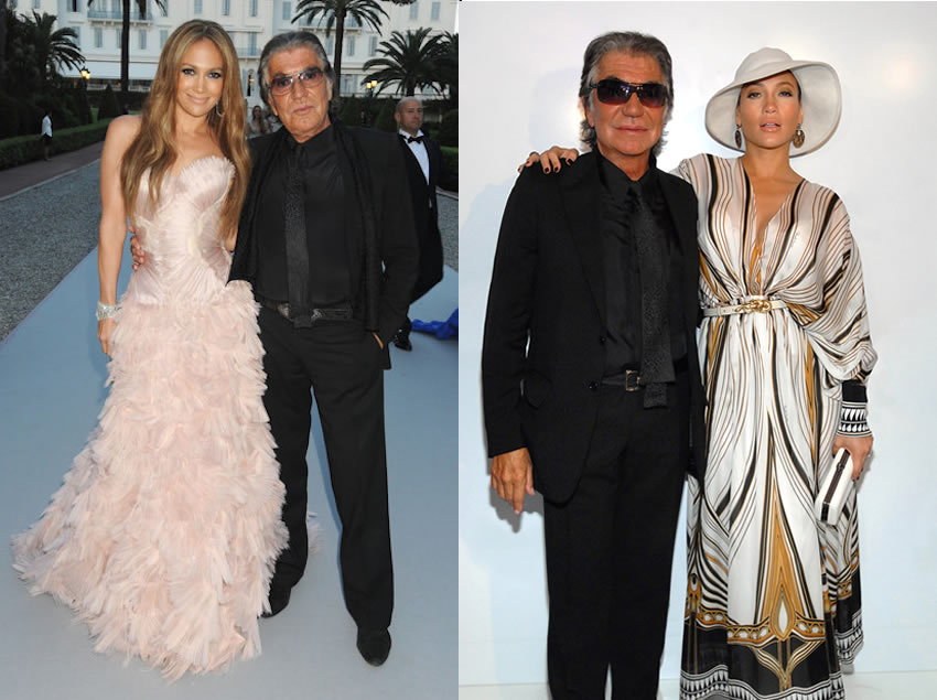 Roberto Cavalli with Jennifer Lopez
