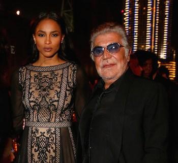 Roberto Cavalli with Ciara