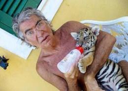 Roberto Cavalli with Tigre