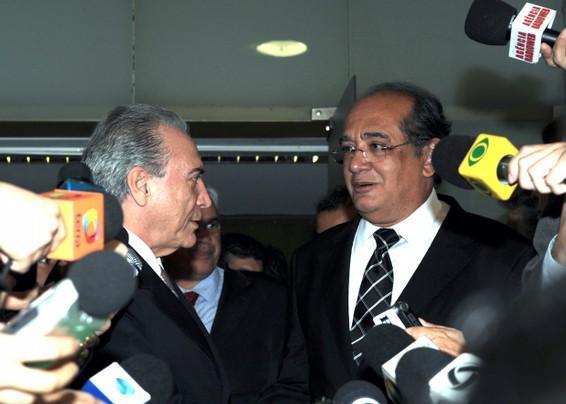 Temer e Mendes se encontraram na Câmara (foto Antônio Cruz - ABr)