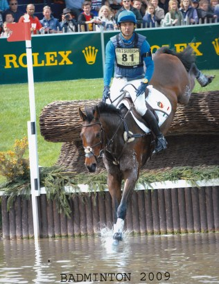 Roberto Rotatori at Badminton International Horse Trials with more than 250,000 spectators on the Cross Country day