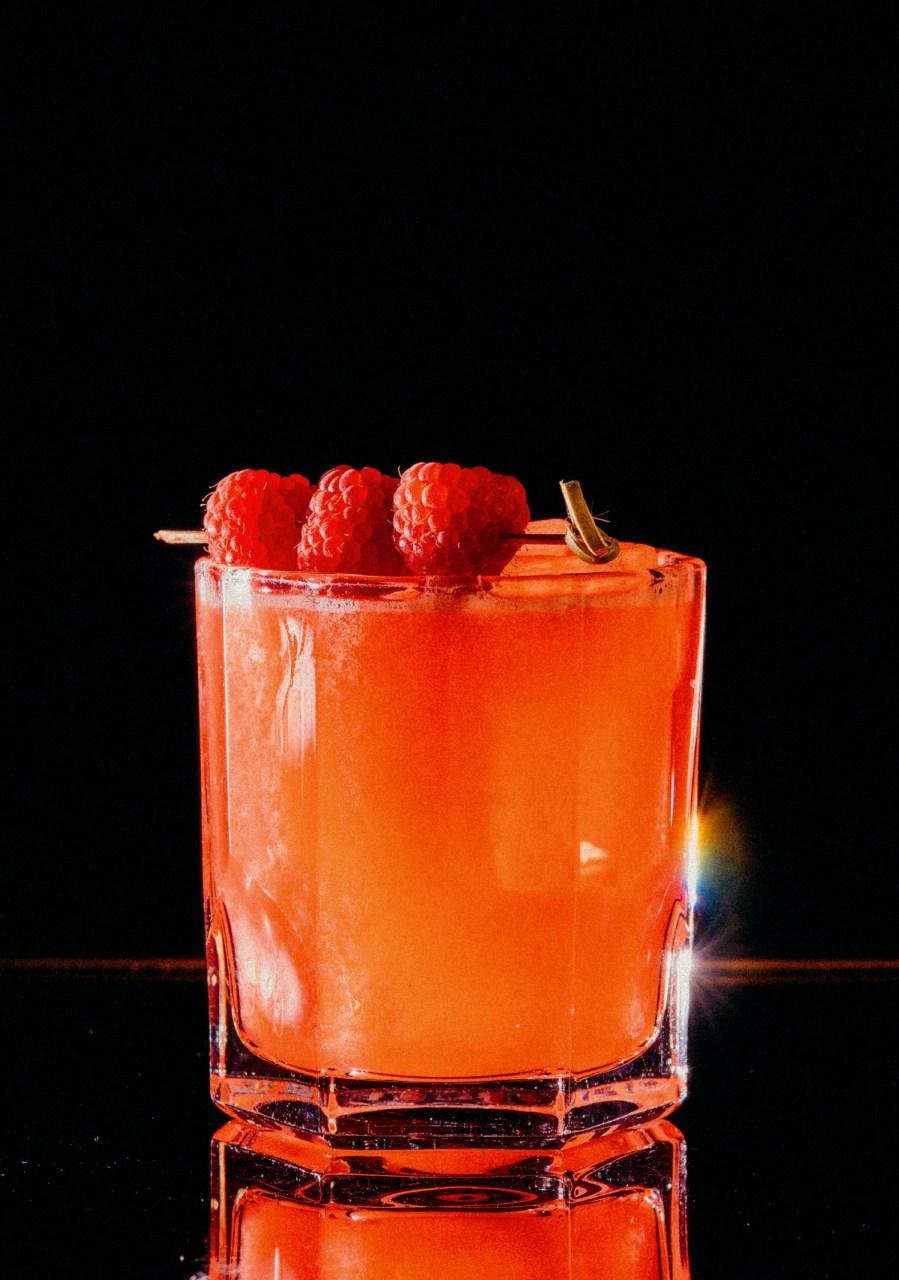 Recipe: 4cl Russian Standard Vodka 2cl St. Germain 2cl Lemon Juice 2cl Grapefruit Juice 1.5cl Sugar Syrup Raspberries