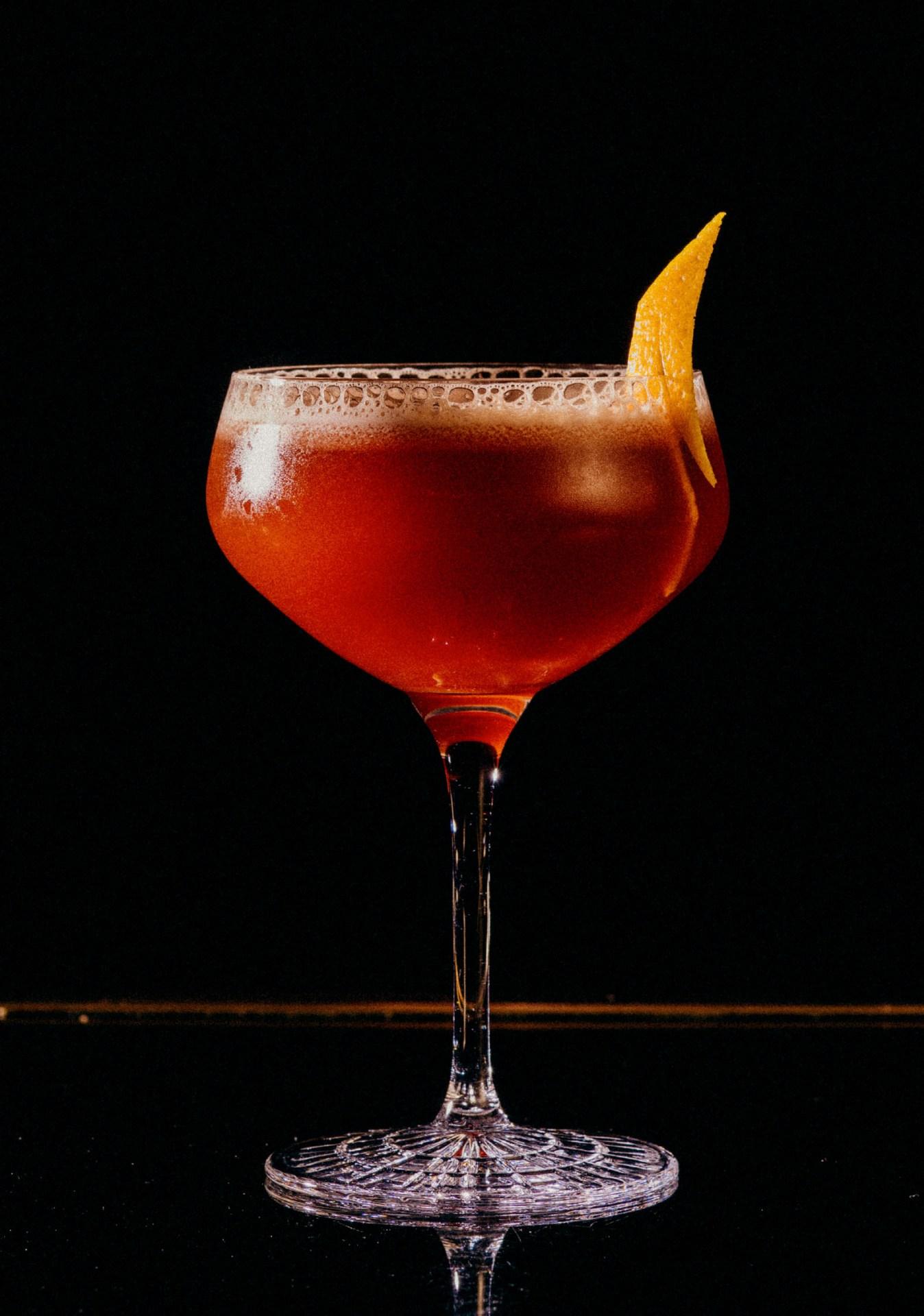 Recipe: 2cl Talisker 10 Years 2cl Antica Formula 2cl Heering Cherry 2cl Orange Juice
