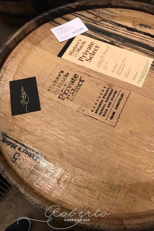 This specially dedicated barrel was bottled at the Maker's Mark distillery in Kentucky, USA.