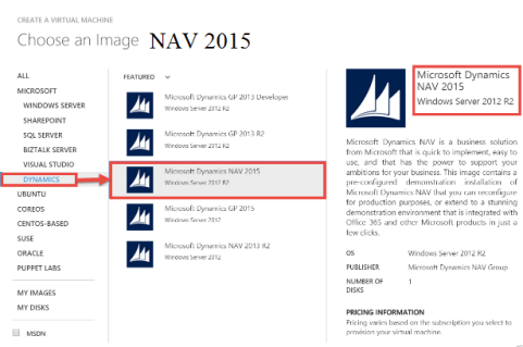azure NAV 2015