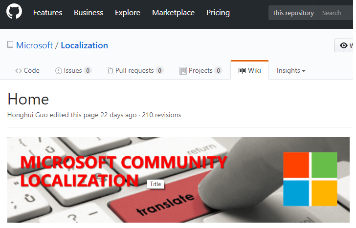 microsoft communit localozation