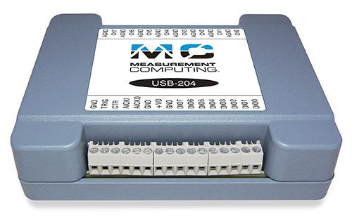 Data acquisition USB device with 8 SE analog inputs, 12-bit resolution, 100 kS/s