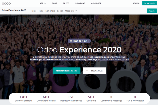Odoo 14 Experience 2020 online event