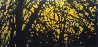 Robert Reeves-Looking through the branches dreaming of spring-acrylic on masonite-2003