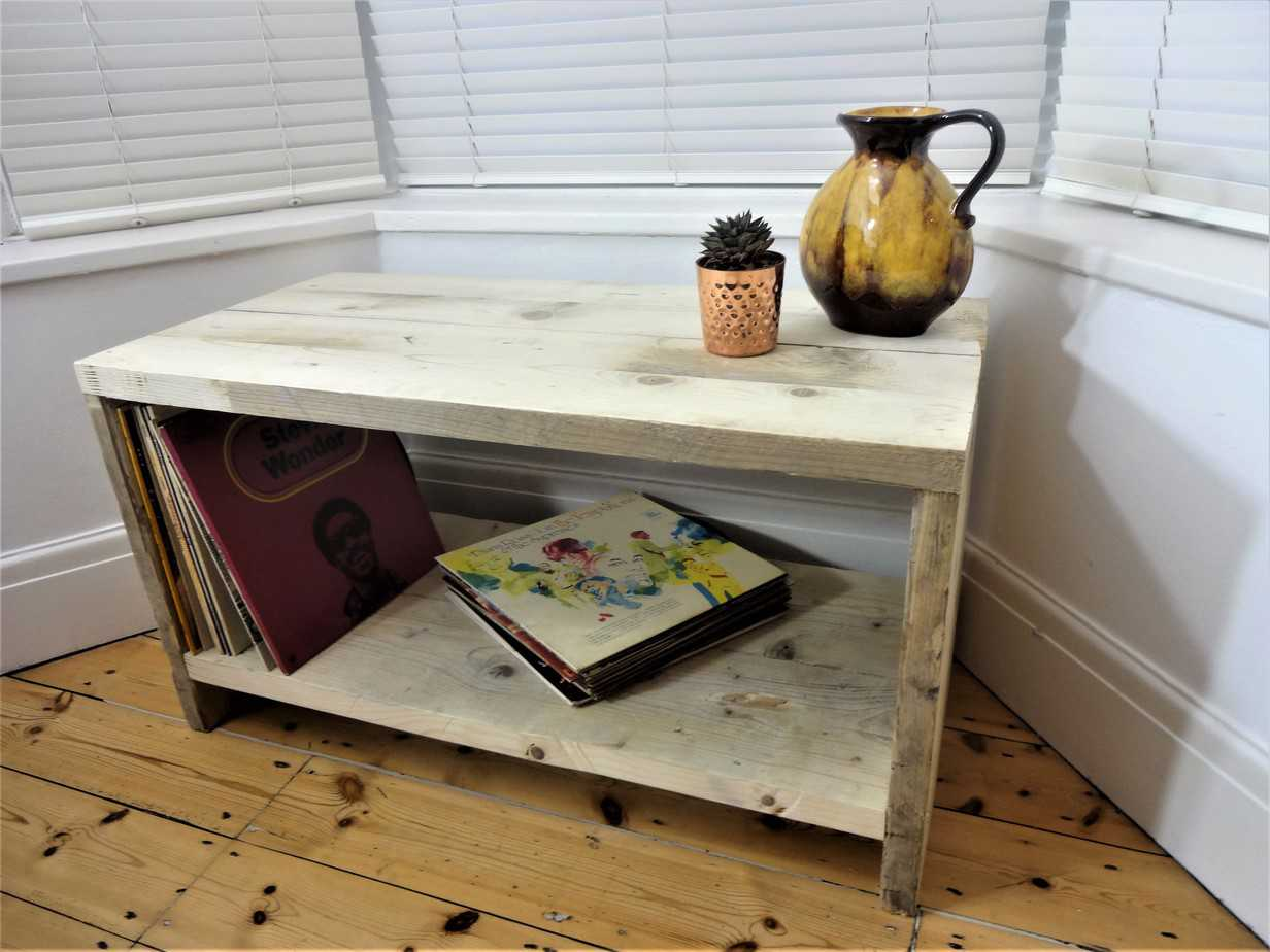 Tv Board Industrial Silverdale Coffee Table / Lounge Table / Tv Stand / Tv Unit - Industrial , Vintage Style From Reclaimed Scaffold Boards - Robert Rose Carpentry