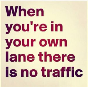 June 26 – Stay in your Lane