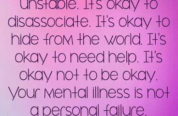 June 10 – I Have Mental Illness And It's Ok.