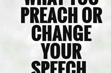 Dec 5 – Practice What You Preach