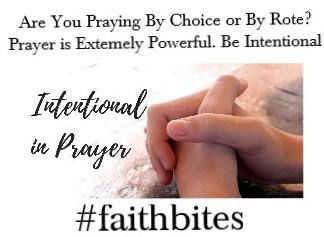 Oct 4 – Intentional Prayer