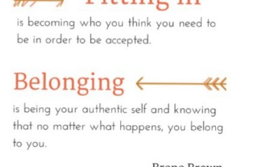 March 15 – Belonging Or Fitting In