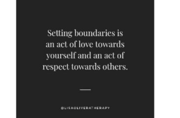 April 6 – Setting Boundaries