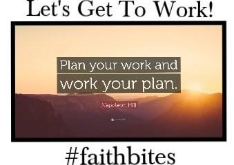 April 26 – Make a Plan, Work The Plan