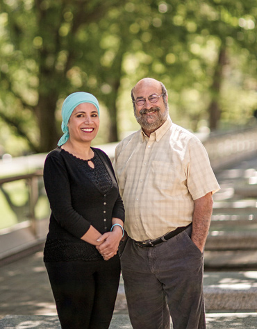 Amal Elsana-Alh'jooj with ICAN founder Prof. Jim Torcyzner in 2017.