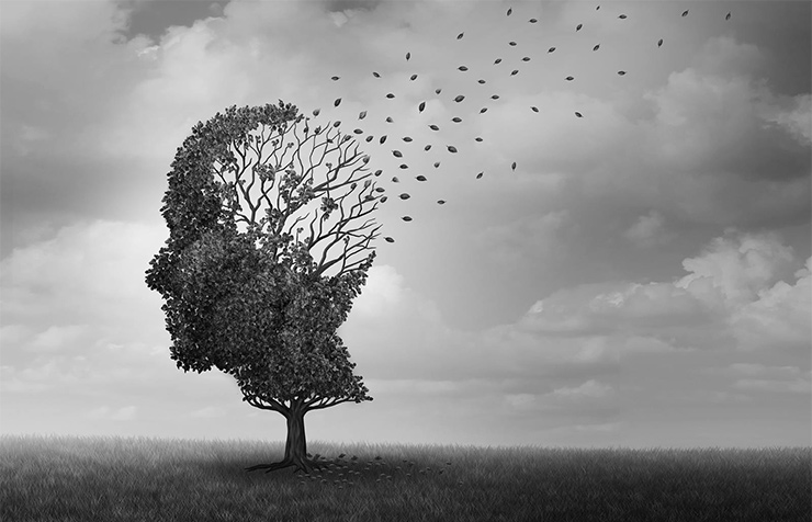 An illustrative image of Alzheimer's disease and dementia, memory loss and brain degeneration (wildpixel; iStock by Getty Images)