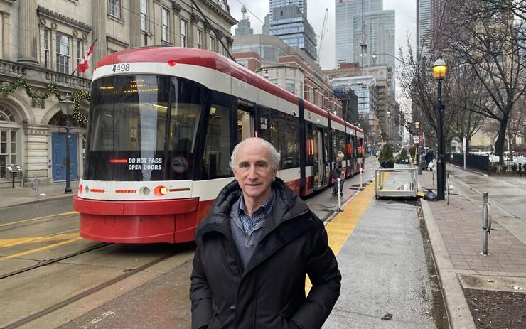 Robert Rotenberg in downtown Toronto near his office, January 2021. (Robert Sarner)