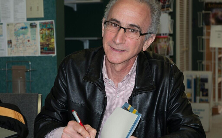 Author Robert Rotenberg speaks at the launch of his fifth book, 'Heart of the City,' in Toronto, August 2017.