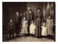 1910 photo of the Capolale family. From left to right: Daniel, Joe, Jeanette, Angelo, Clara, Maria (Malpere), Elizabeth, and Rose