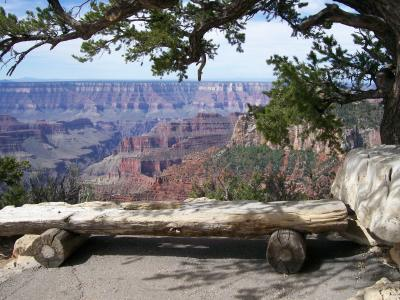 Bench by the Grand Canyon