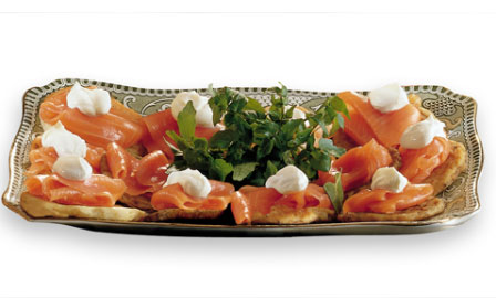 Smoked Salmon on Potato Cakes