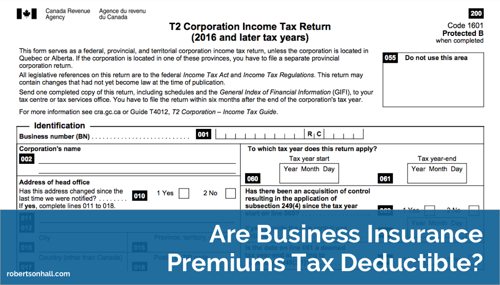 Are Business Insurance Premiums Tax Deductible?