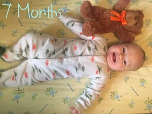 Asher is 7 months old