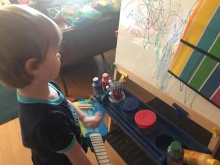 singing at the art