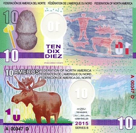 10 Amero  UNC Banknote