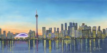 Toronto Skyline - Night Robert Artist