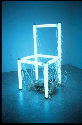 chair with light white swivel arms robert thurmer