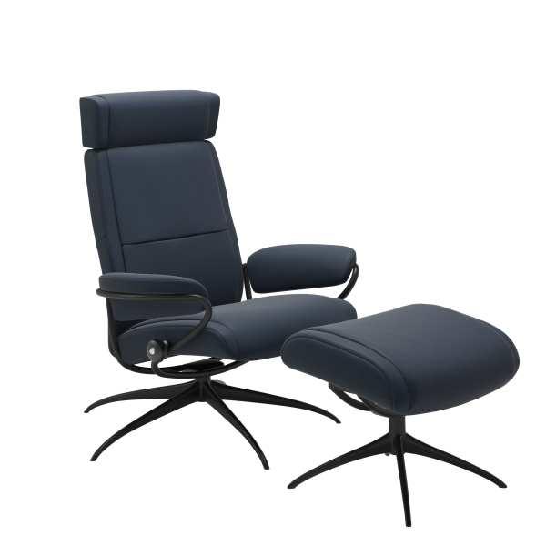Adjustable Headrest with Stool Chair Paris Stressless