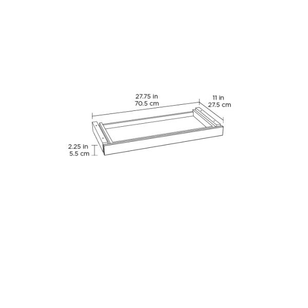 Centro 6459-2 Standing Desk Drawer White Spec