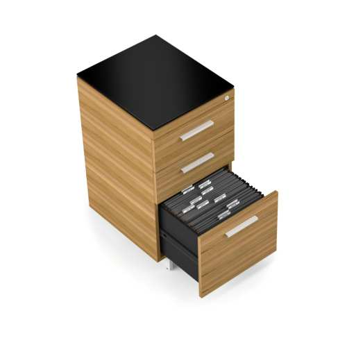 Sequel 6114 3 Drawer File & Storage Cabinet WL SN