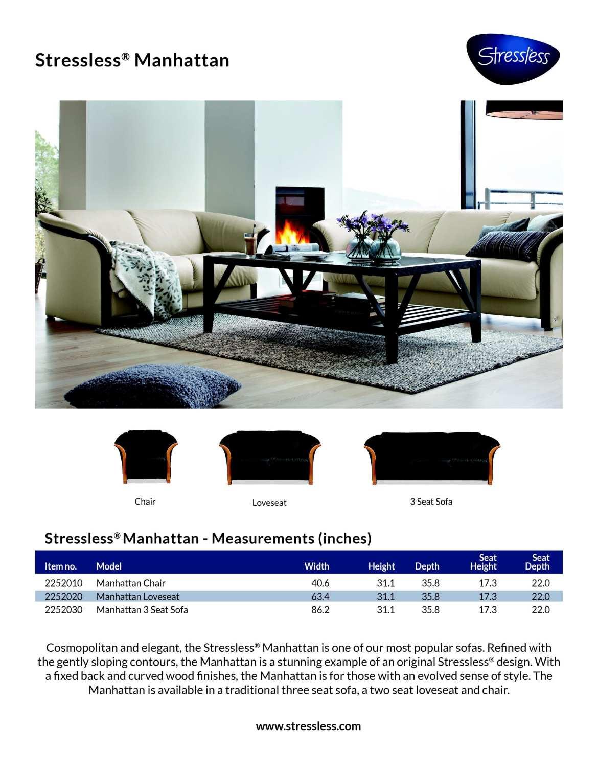 Stressless Manhattan Product Sheet