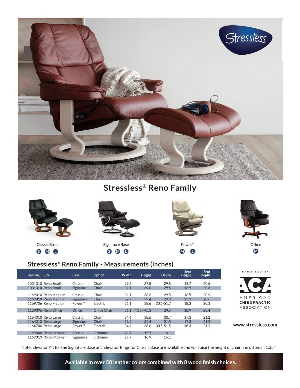 Reno Stressless Product Sheet